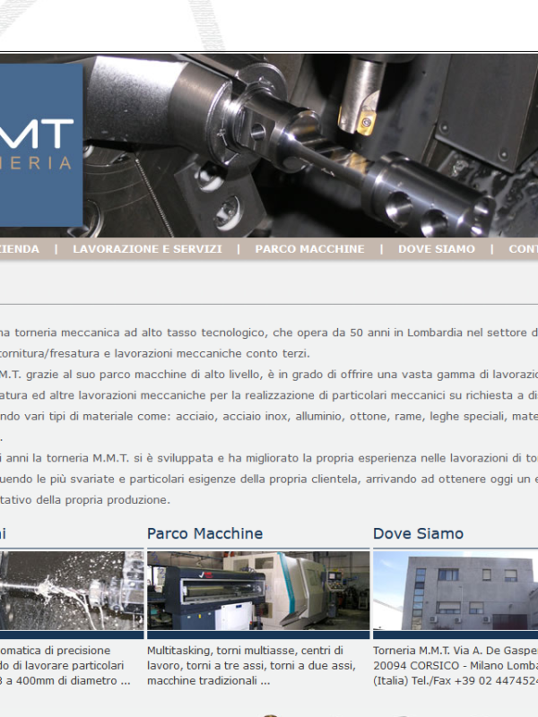 Torneria MMT Home page